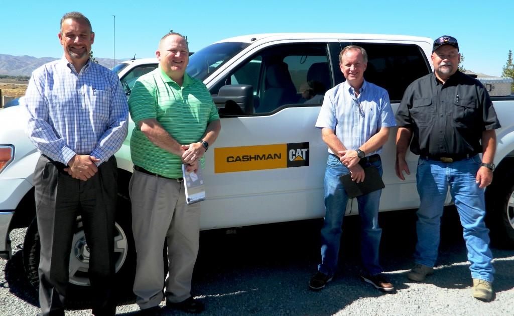 Cashman-Equipment General Manager, Todd Gilligan, Regional Sales Manager, John Currie, Manager of Commercial Mining, John Pettigrew, and Mining Sales Representative, Terry Haygood