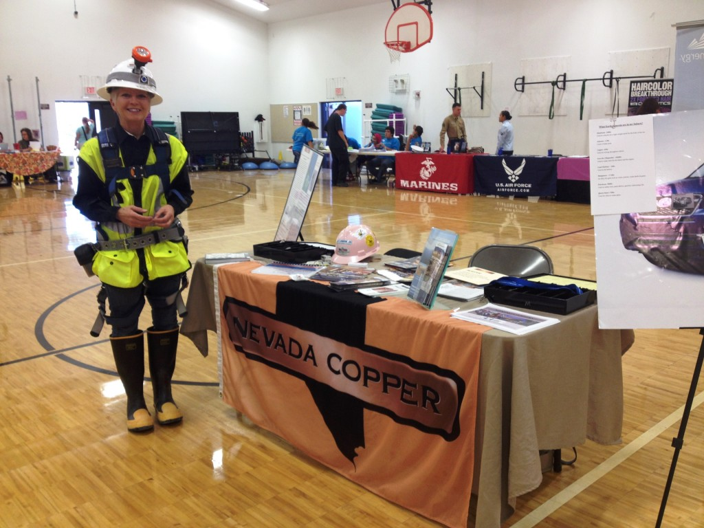 Nevada Copper's Community Relations Coordinator ready to discuss the career opportunities working at the Pumpkin Hollow Mine Project and other Mines.