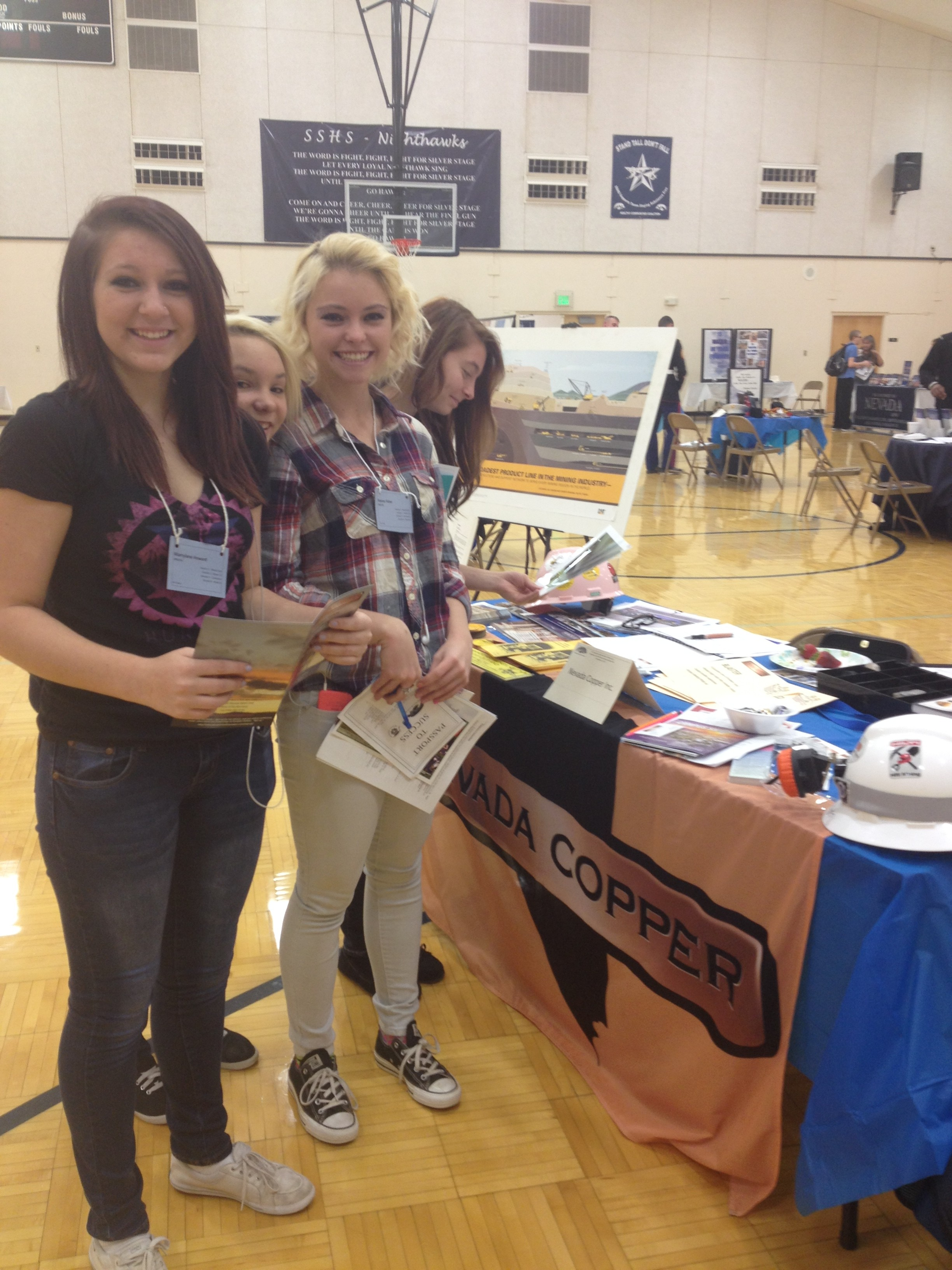 mackay school of mines nevada copper pumpkin hollow project silver stage high school students the nevada copper pumpkin hollow mine project s booth on