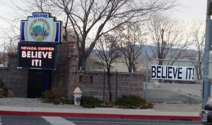BELIEVE IT!  Corner of Main Street & Goldfield Avenue, Yerington, Nevada