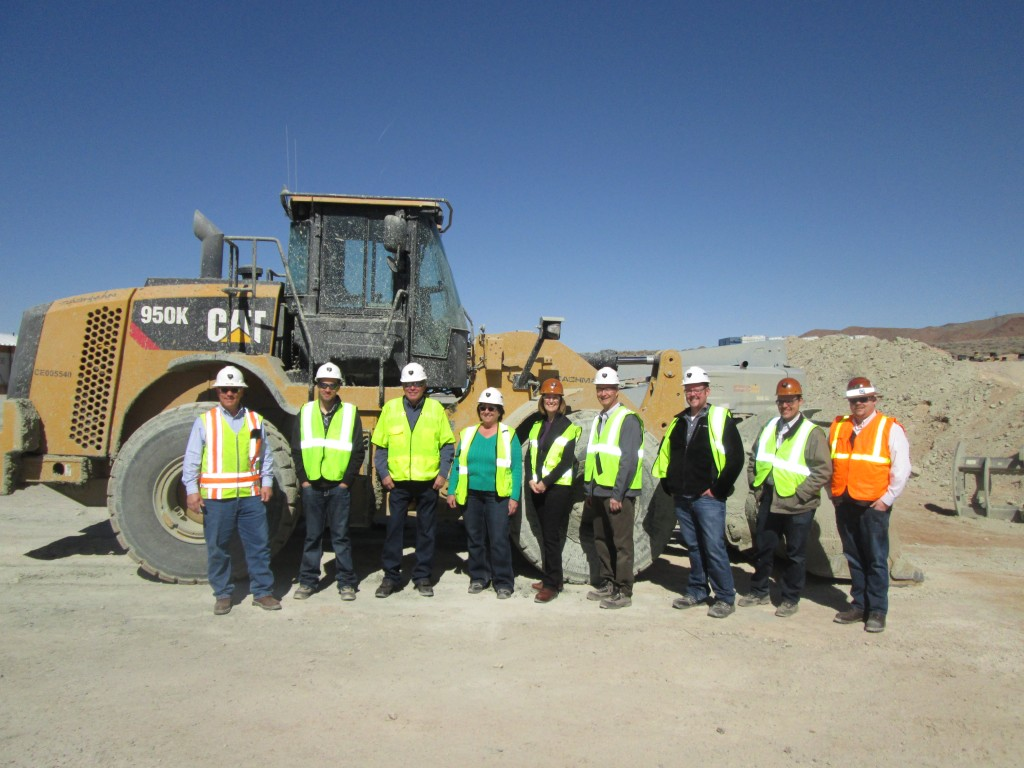 From left to right standing in from the the Cashman-Equipment is Nevada Copper'sTim Dake,