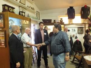Left to right - Lyon County Manager, Jeff Page, City of Yerington Councilman, Jeff Lucier, Senator Dean Heller's Regional Representative, Sam Crampton and Nevada Copper's VP of Operations Tim Arnold