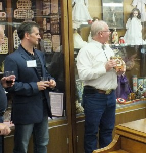 Giulio Bonifacio, President and CEO of Nevada Copper - Left  and Tim Dyhr are awarded an Appreciation Plaque from Lyon County Museum.