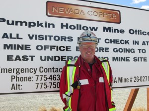 Nevada Copper's Safety Manager, Mike Weaver